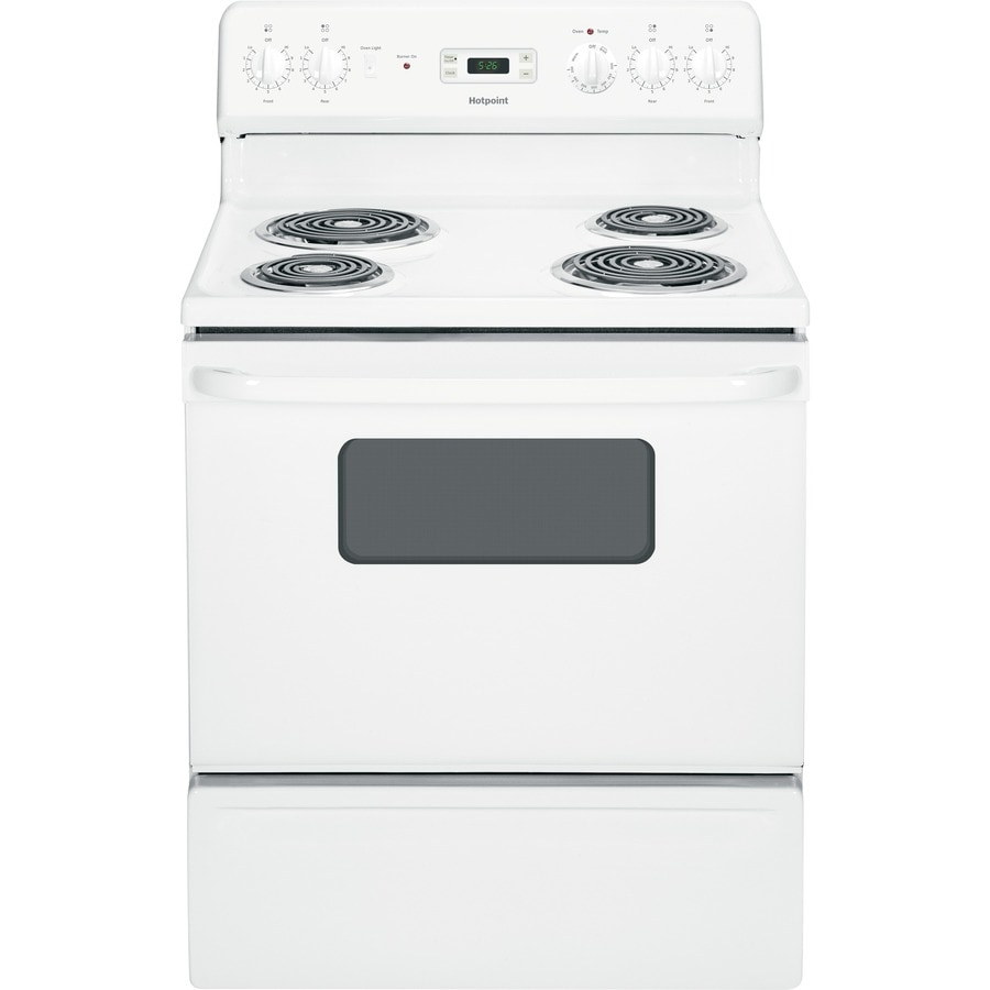 Hotpoint Freestanding 5-cu ft Electric Range (White) (Common: 30-in; Actual: 29.87-in)