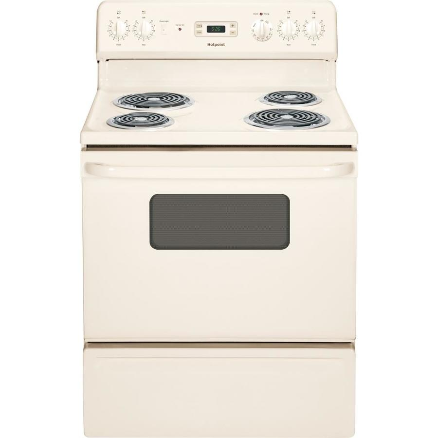 Hotpoint Freestanding 5-cu ft Electric Range (Bisque) (Common: 30-in; Actual: 29.875-in)