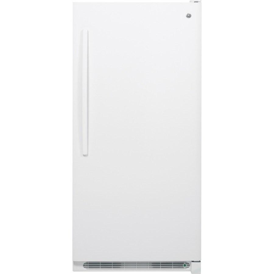 GE 20.9-cu ft Upright Freezer (White)