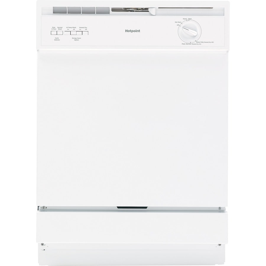 Hotpoint 62-Decibel Built-In Dishwasher with Hard Food Disposer (White) (Common: 24-in; Actual: 24-in)