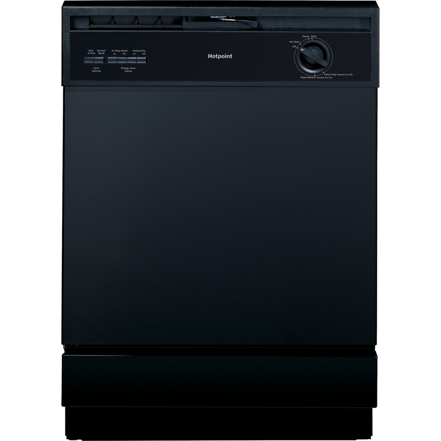 Hotpoint 62-Decibel Built-In Dishwasher with Hard Food Disposer (Black) (Common: 24-in; Actual: 24-in)