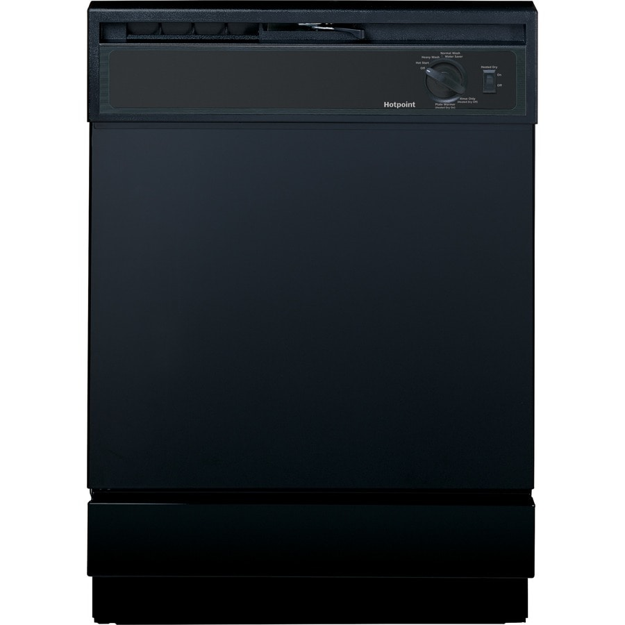 Shop hotpoint 64 decibel built in dishwasher with hard food disposer black common 24 in - Built in microwave home depot ...
