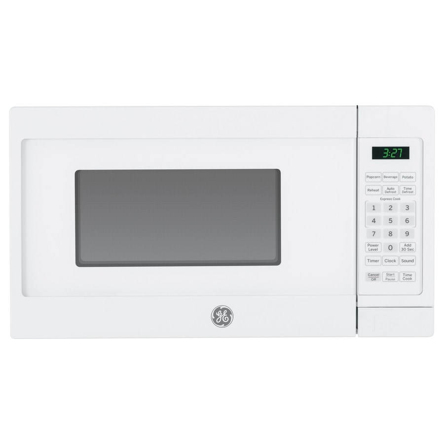 Shop ge 0 7 cu ft 700 watt countertop microwave white at - Microwave for small spaces image ...