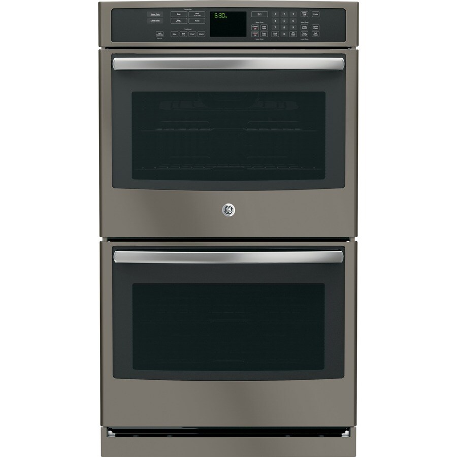 Oven Baking Element >> Shop GE Profile Series Self-Cleaning Convection Double Electric Wall Oven (Slate) (Common: 30-in ...