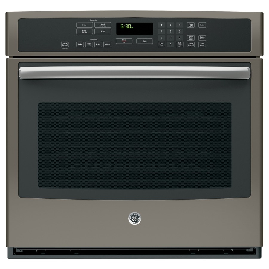 GE Profile Series Self-Cleaning with Steam Convection Single Electric Wall Oven (Slate) (Common: 30-in; Actual: 29.75-in)