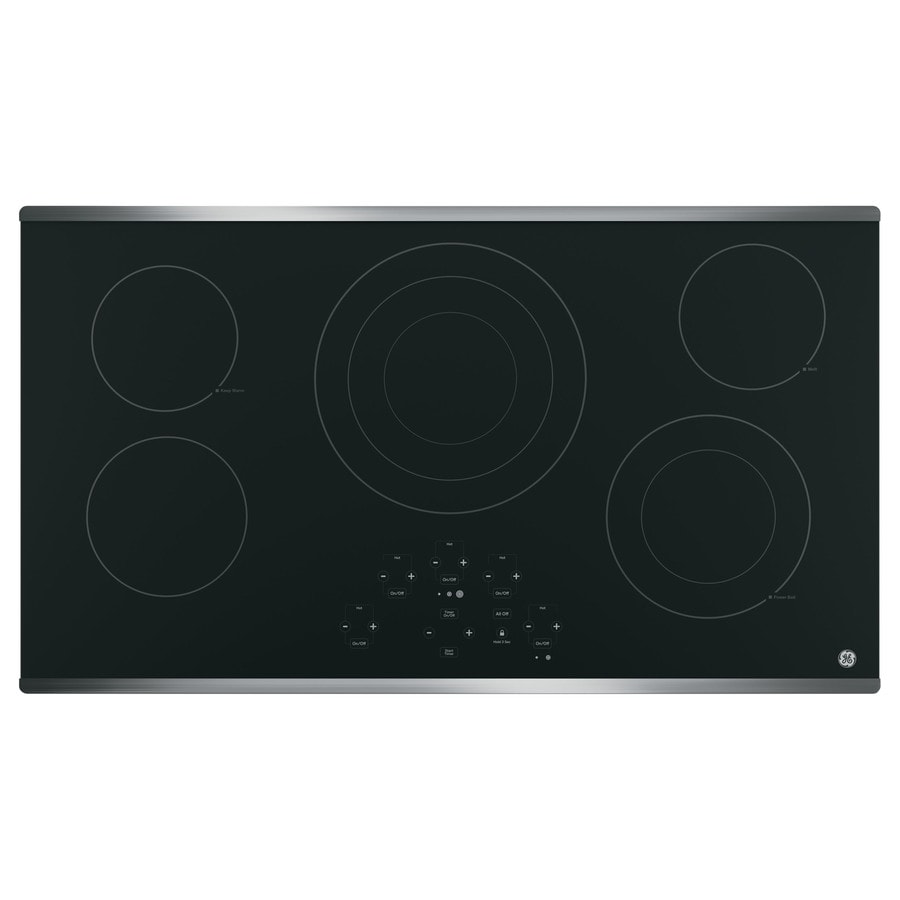 GE 5-Element Smooth Surface Electric Cooktop (Stainless Steel) (Common: 36-in; Actual 36.125-in)