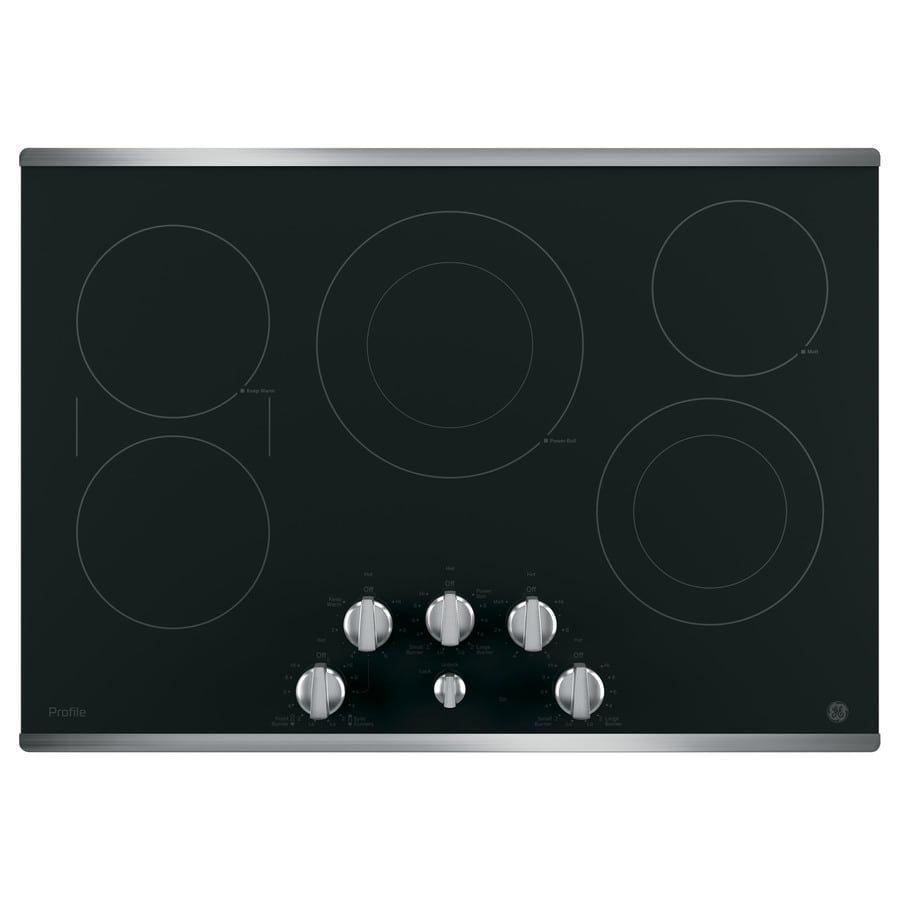 Stainless Electric Cooktops ~ Shop ge profile element smooth surface electric cooktop