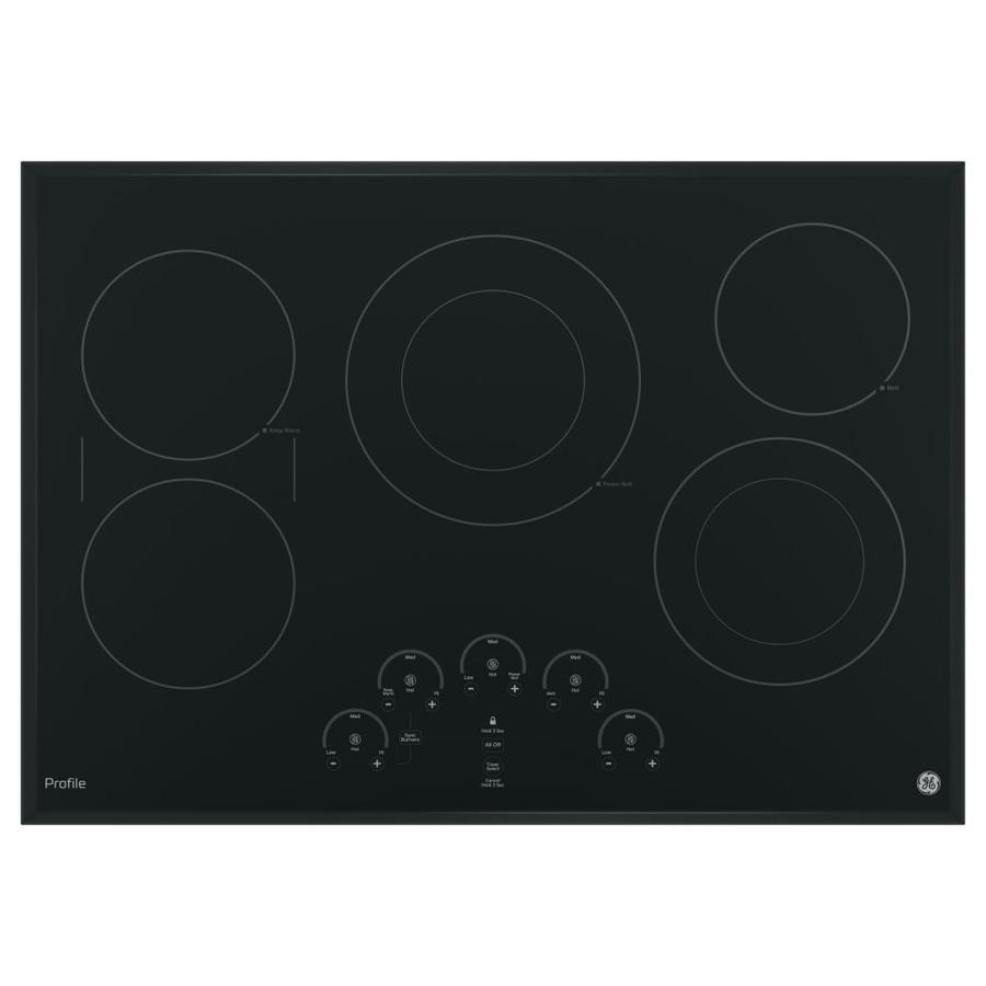GE Profile 5-Element Smooth Surface Electric Cooktop (Black) (Common: 30-in; Actual 29.75-in)