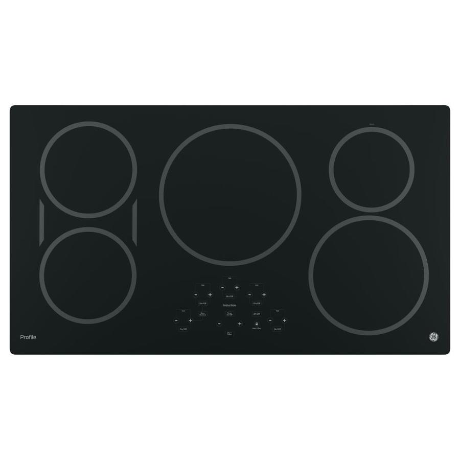 GE Profile 5-Element Smooth Surface Induction Electric Cooktop (Black) (Common: 36-in; Actual 36-in)