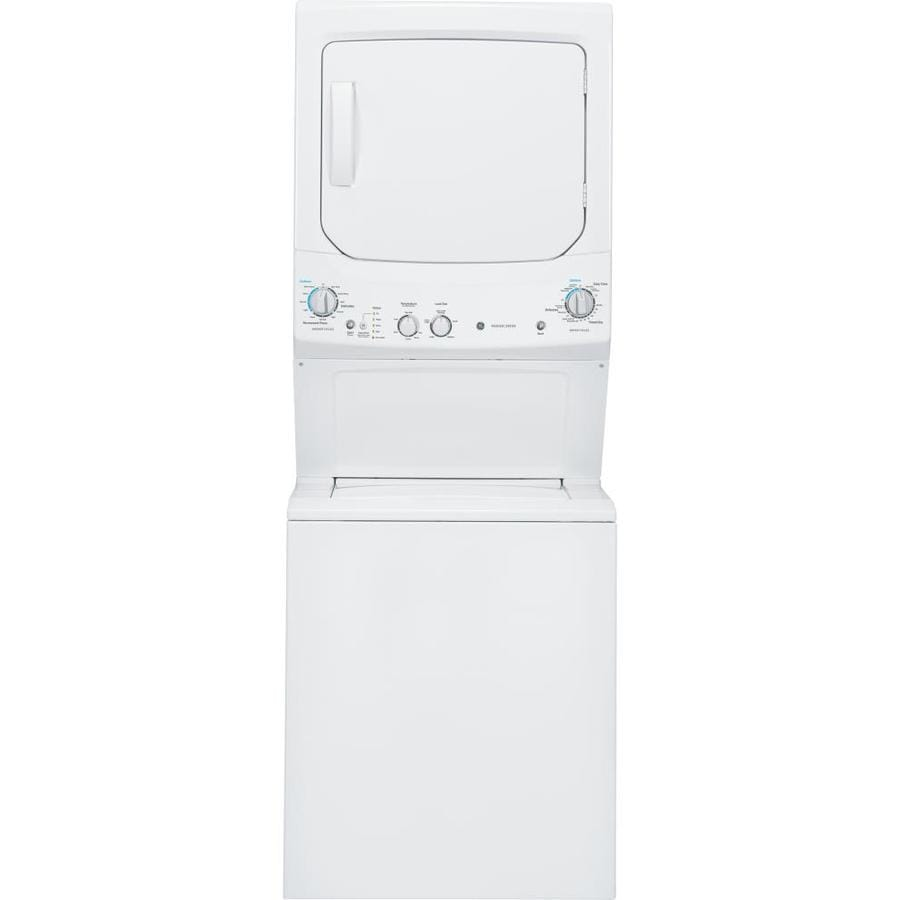 GE Electric Stacked Laundry Center with 3.2-cu ft Washer and 5.9-cu ft Dryer (White)