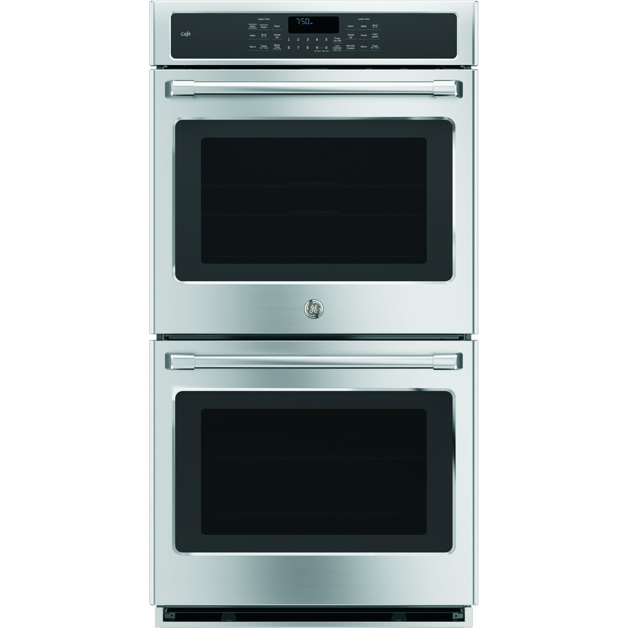 GE Cafe Series Self-Cleaning Convection Double Electric Wall Oven (Stainless Steel) (Common: 27-in; Actual: 26.71-in)