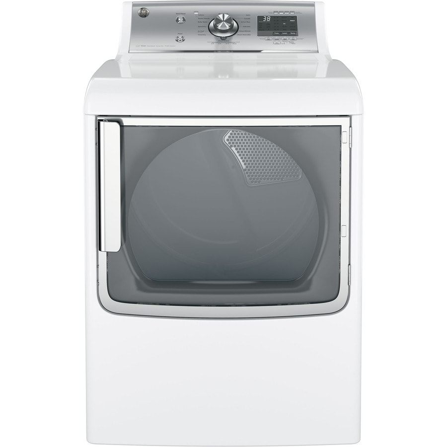 GE 7.8-cu ft Electric Dryer with Steam Cycle (White) ENERGY STAR