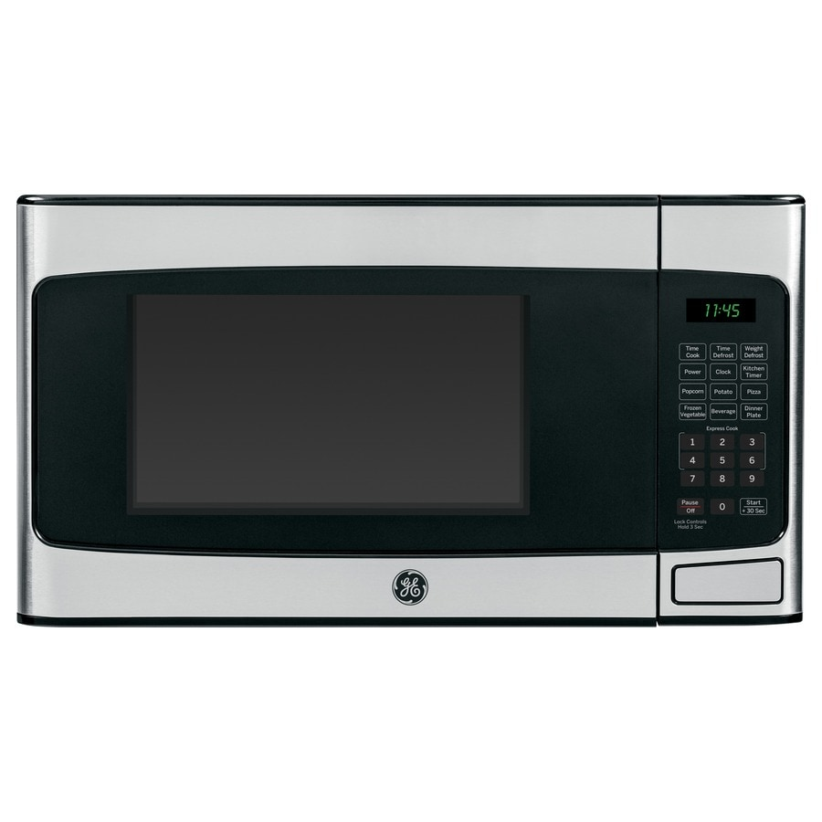 Shop GE 1.1-cu ft 950-Watt Countertop Microwave (Stainless Steel) at ...
