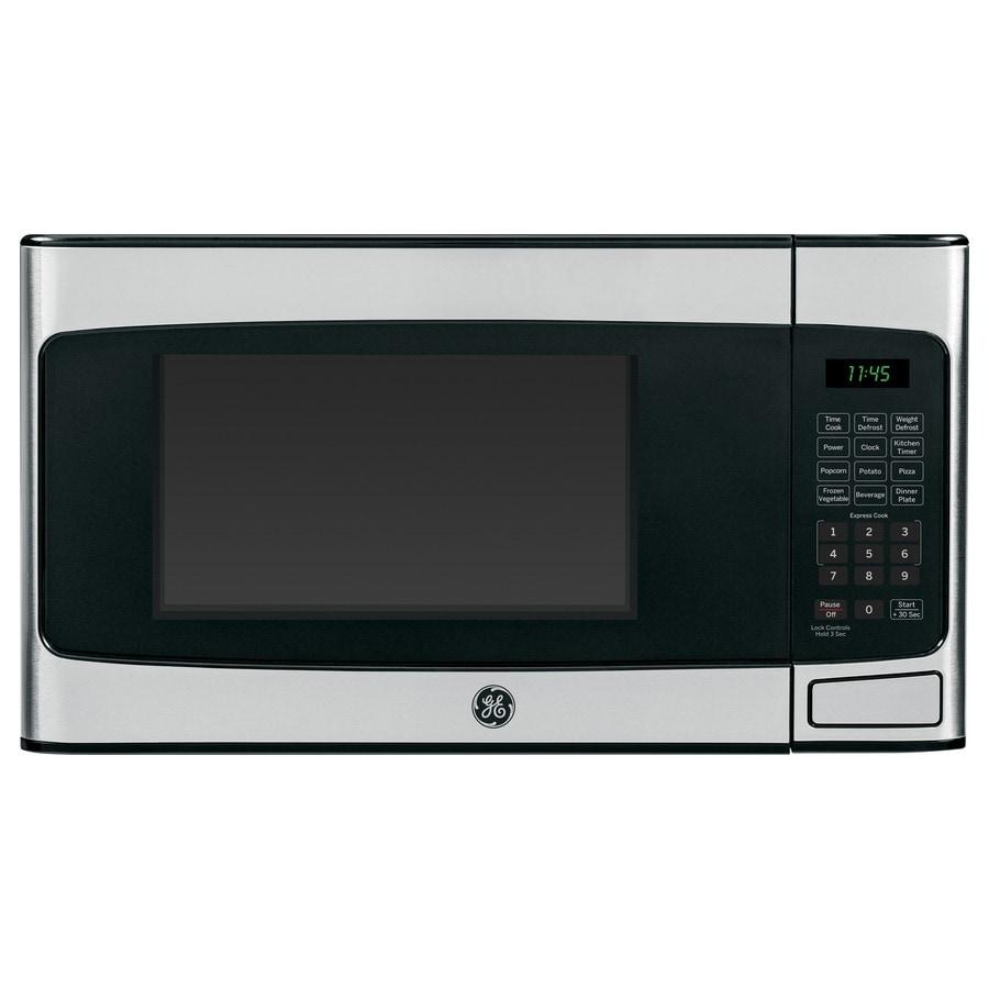Shop Ge 1 1 Cu Ft 950 Watt Countertop Microwave Stainless