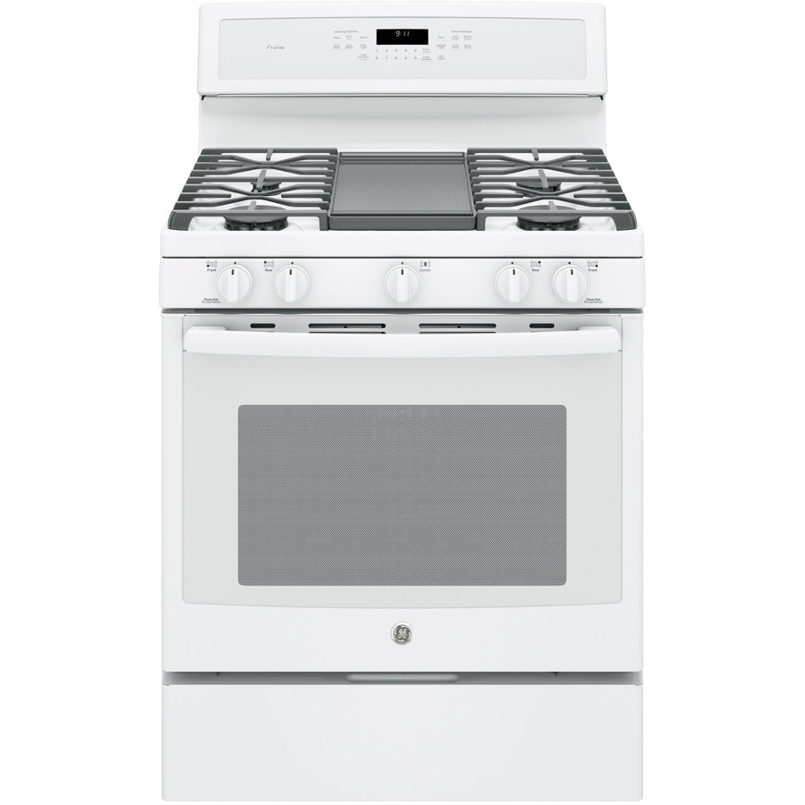 GE Profile 5-Burner Freestanding Convection Gas Range (White) (Common: 30-in; Actual: 30-in)
