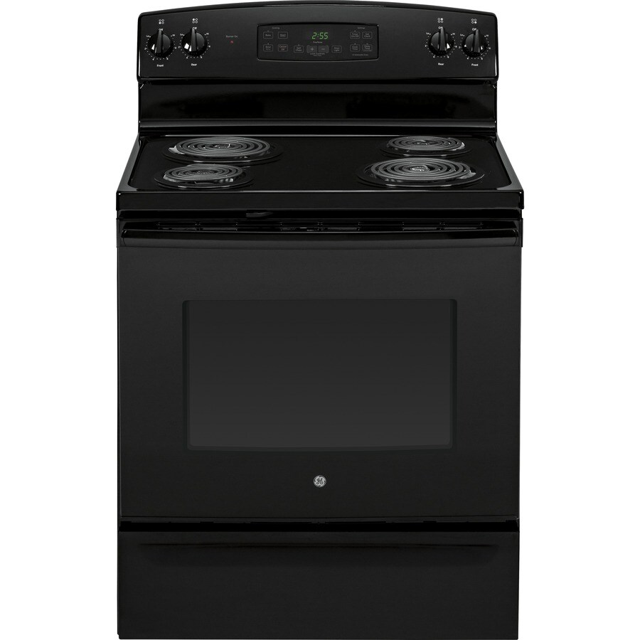 GE Freestanding 5-cu ft Self-Cleaning Electric Range (Black) (Common: 30-in; Actual: 29.87-in)