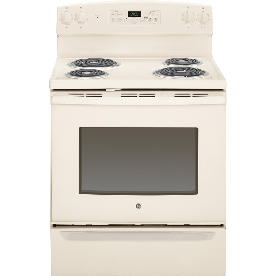 GE Freestanding 5-cu ft Self-Cleaning Electric Range (Bisque) (Common: 30-in; Actual: 29.87-in)