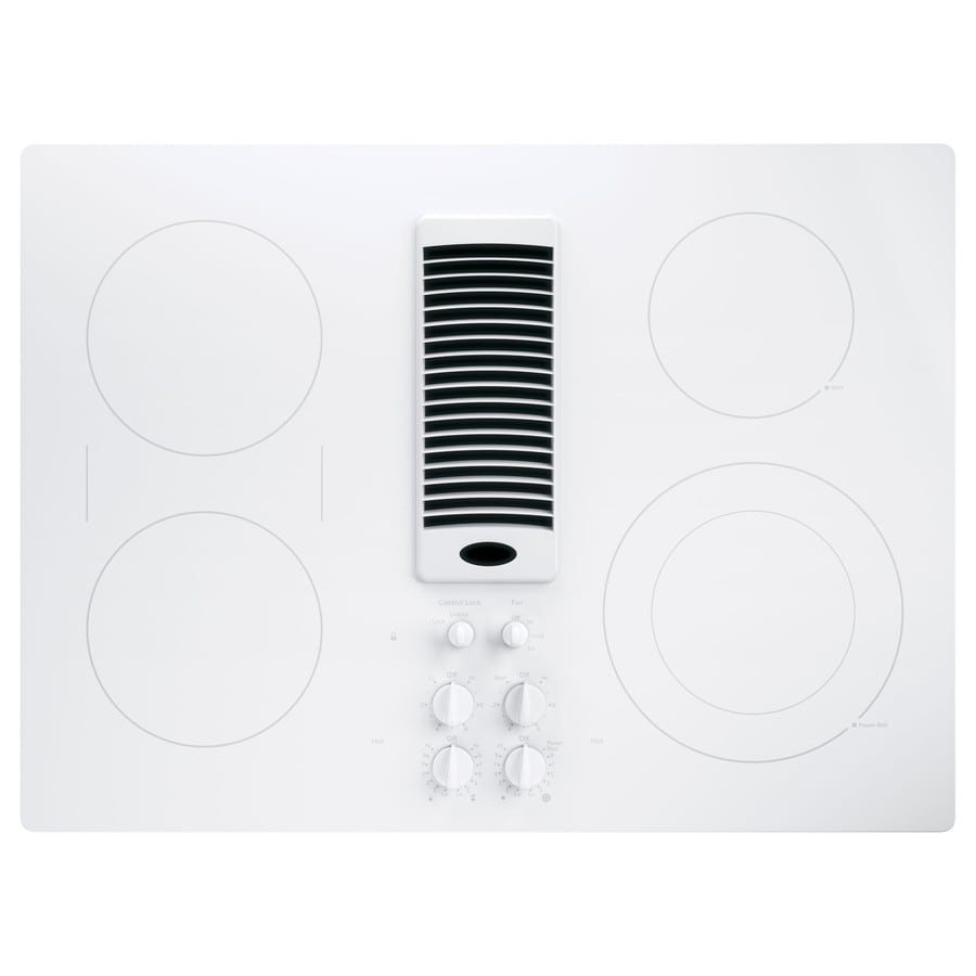 Ge Electric Cooktop With Downdraft ~ Shop ge profile smooth surface electric cooktop with