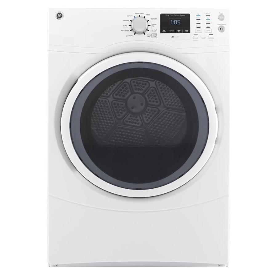 Shop Ge 7 5 Cu Ft Stackable Gas Dryer White At Lowes Com