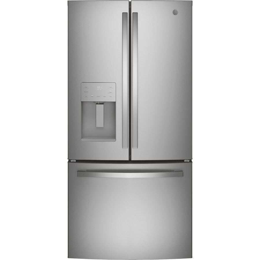 GE 23.8-cu ft French Door Refrigerator Single Ice Maker (Stainless Steel) ENERGY STAR