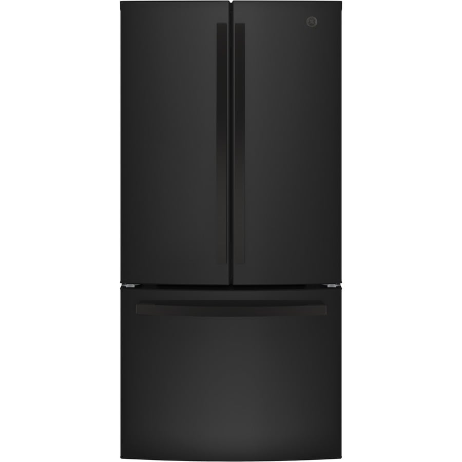 GE 24.8-cu ft French Door Refrigerator with Single Ice Maker (Black) ENERGY STAR