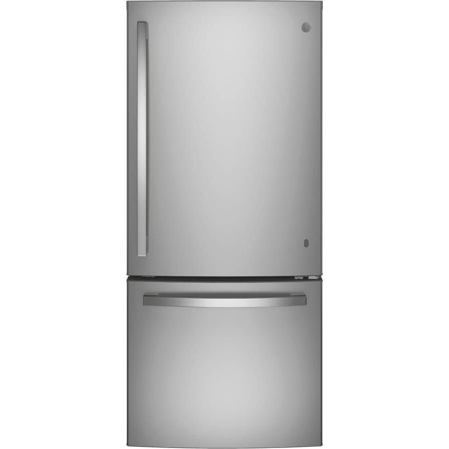 GE 20.9-cu ft Bottom-Freezer Refrigerator (Stainless Steel) ENERGY STAR
