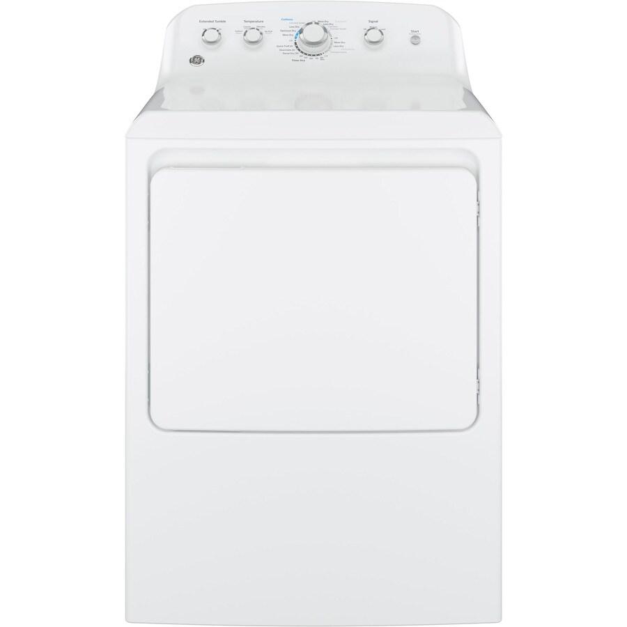 GE 6.2-cu ft Gas Dryer (White)
