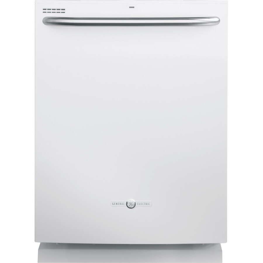 GE Artistry 54-Decibel Built-In Dishwasher with Hard Food Disposer (White) (Common: 24-in; Actual: 23.75-in)