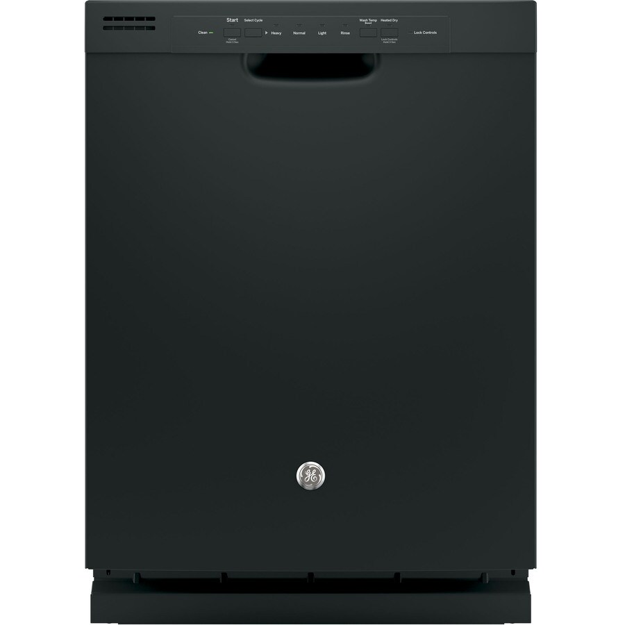 GE 55-Decibel Built-In Dishwasher with Hard Food Disposer (Black) (Common: 24-in; Actual: 23.75-in)