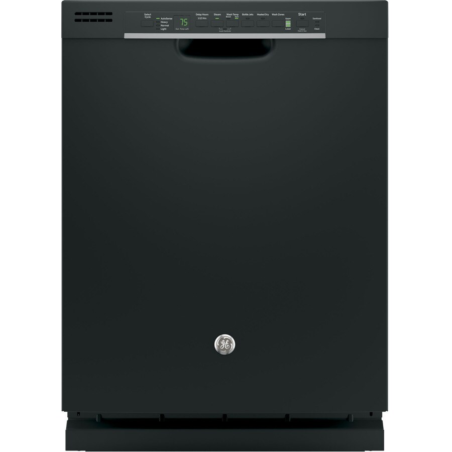 GE 51-Decibel Built-In Dishwasher with Bottle Wash Feature and Hard Food Disposer (Black) (Common: 24-in; Actual: 23.75-in)
