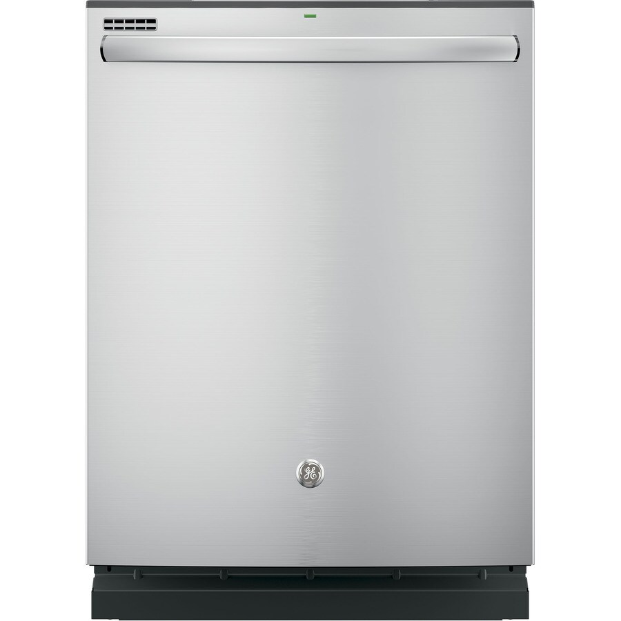 GE 48-Decibel Built-In Dishwasher with Bottle Wash Feature and Hard Food Disposer (Stainless Steel) (Common: 24-in; Actual: 23.75-in)