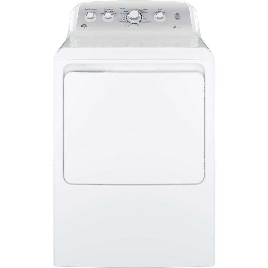 Shop Ge 7 2 Cu Ft Gas Dryer White At Lowes Com