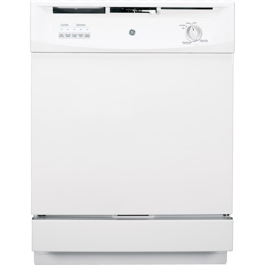 GE 62-Decibel Built-In Dishwasher with Hard Food Disposer (White) (Common: 24-in; Actual: 24-in)