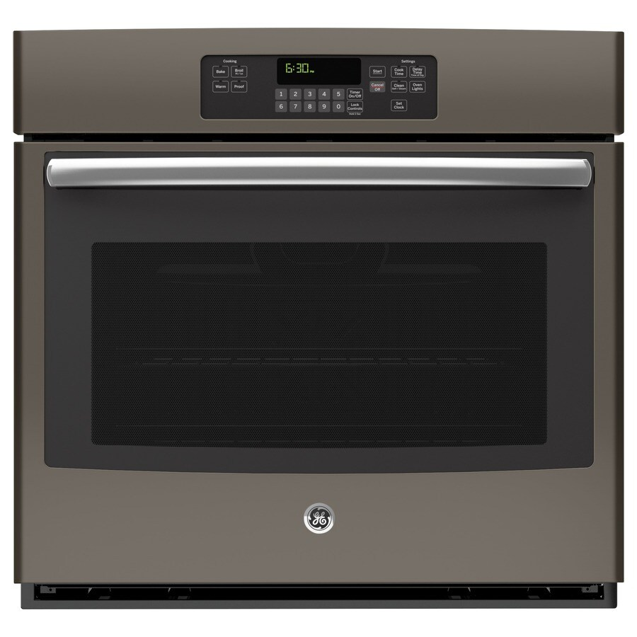 Oven Baking Element >> Shop GE Self-Cleaning Single Electric Wall Oven (Slate) (Common: 30-in; Actual 29.75-in) at ...