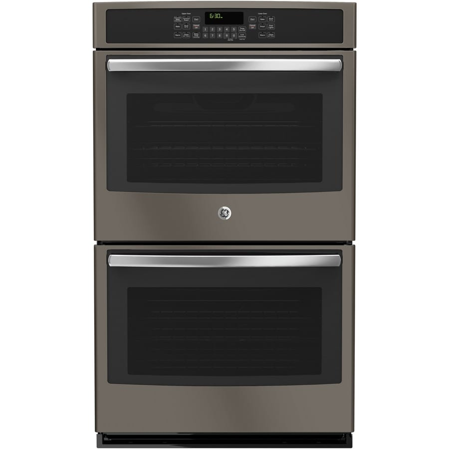 GE Self-Cleaning with Steam Convection Double Electric Wall Oven (Slate) (Common: 30-in; Actual: 29.75-in)