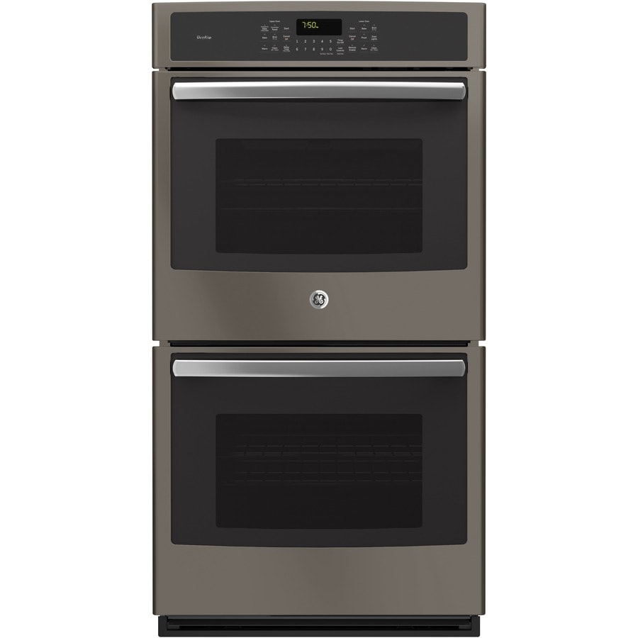 GE Profile Series Self-Cleaning Convection Double Electric Wall Oven (Slate) (Common: 27-in; Actual: 26.75-in)