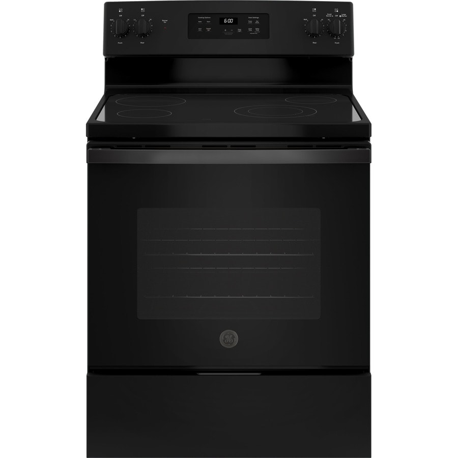 GE Smooth Surface Freestanding 5.3-cu ft Electric Range (Black) (Common: 30-in; Actual: 29.875-in)
