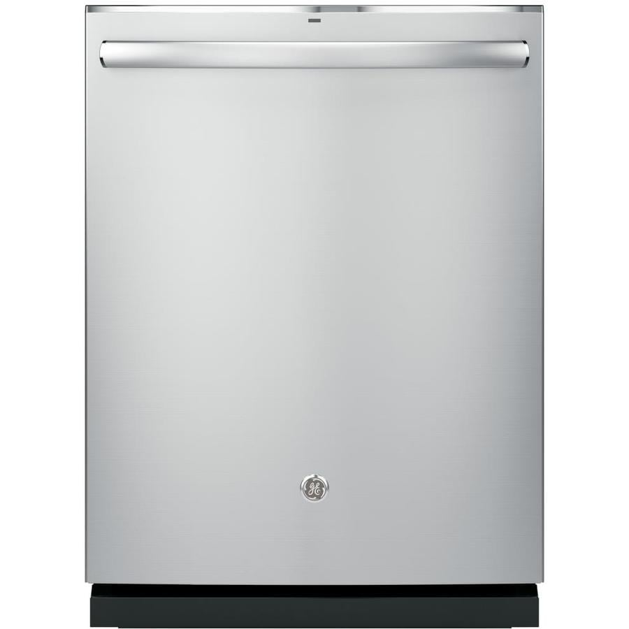 GE 45-Decibel Built-In Dishwasher with Bottle Wash Feature and Hard Food Disposer (Stainless Steel) (Common: 24-in; Actual: 23.75-in)