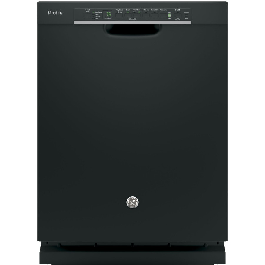 GE Profile Series 45-Decibel Built-In Dishwasher with Bottle Wash Feature (Black) (Common: 24-in; Actual: 23.75-in) ENERGY STAR