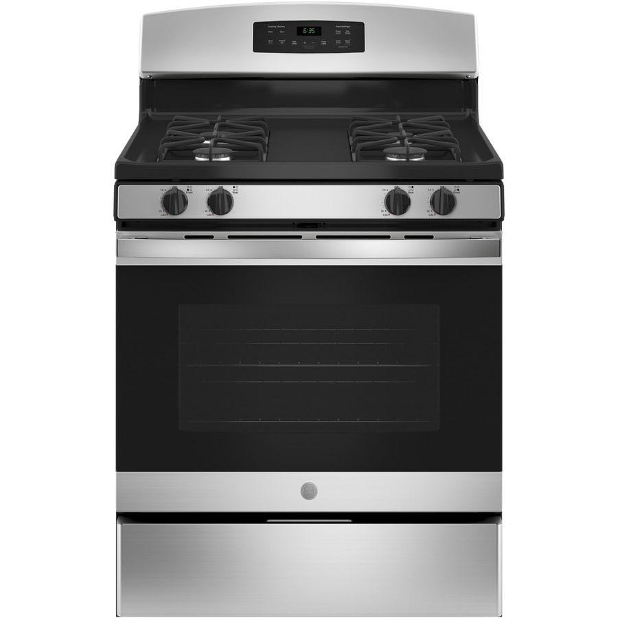 GE Freestanding 5-cu ft Self-Cleaning Gas Range (Stainless Steel) (Common: 30-in; Actual: 30-in)
