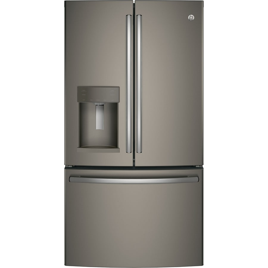 Shop Ge 22 2 Cu Ft Counter Depth French Door Refrigerator