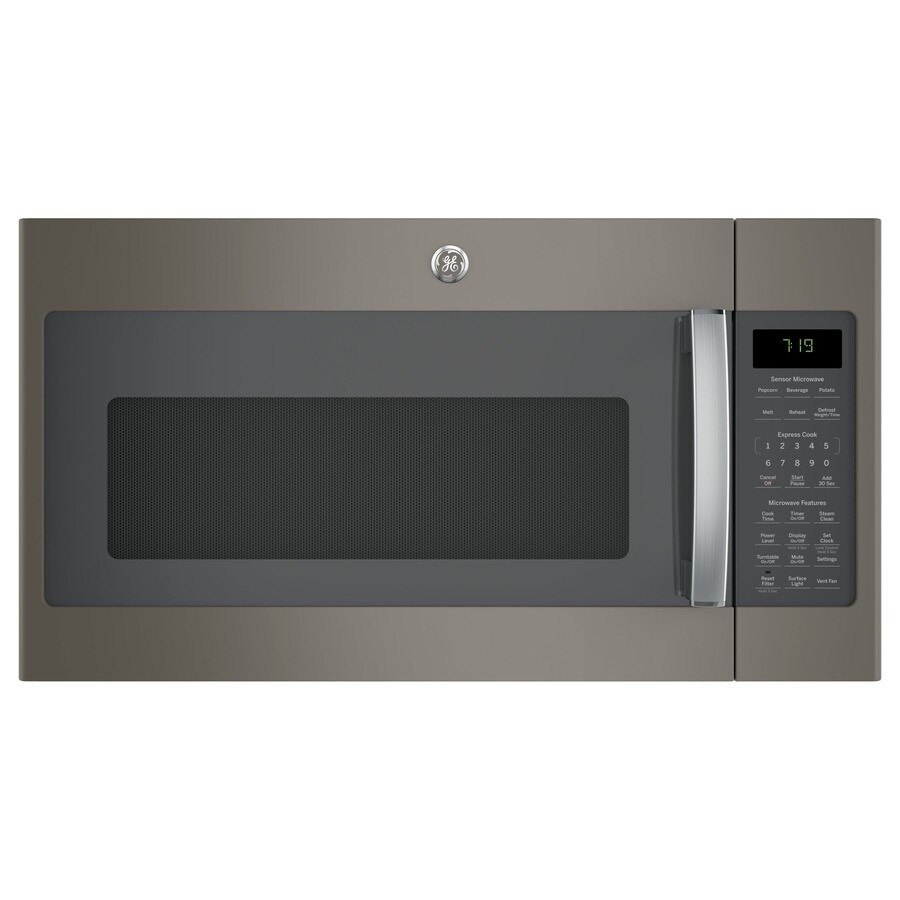 GE 1.9-cu ft Over-The-Range Microwave with Sensor Cooking Controls (Slate) (Common: 30-in; Actual: 29.75-in)