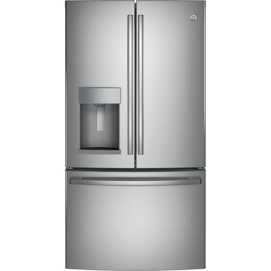 GE 25.8-cu ft French Door Refrigerator with Single Ice Maker (Stainless Steel) ENERGY STAR