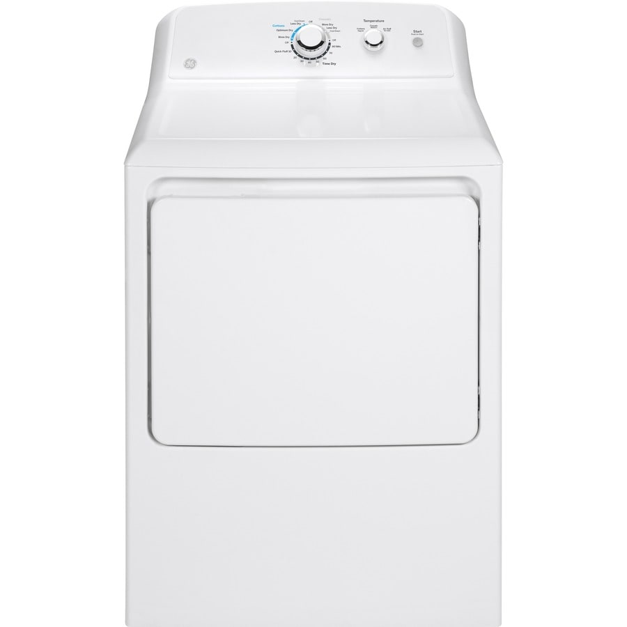GE 7.2-cu ft Electric Dryer (White)