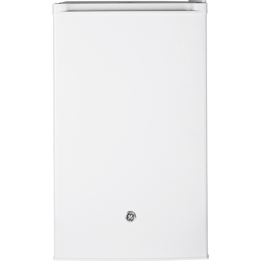GE 4.4-cu ft Freestanding Compact Refrigerator with Freezer Compartment (White) ENERGY STAR