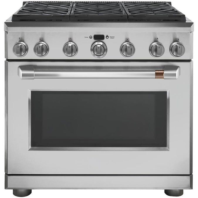 Cafe 6 Burners 6.2-cu ft Self-Cleaning Convection ...