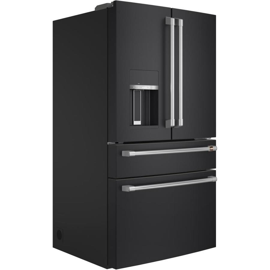 Cafe 27.8 Cu Ft Matte White And Brushed Bronze French Door Refrigerator