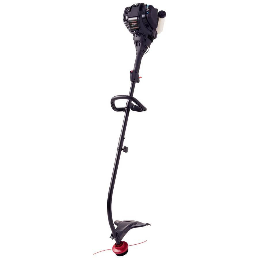 MTD Pro 29-cc 4-Cycle 17-in Curved Shaft Gas String Trimmer Edger Capable (Attachment Compatible)