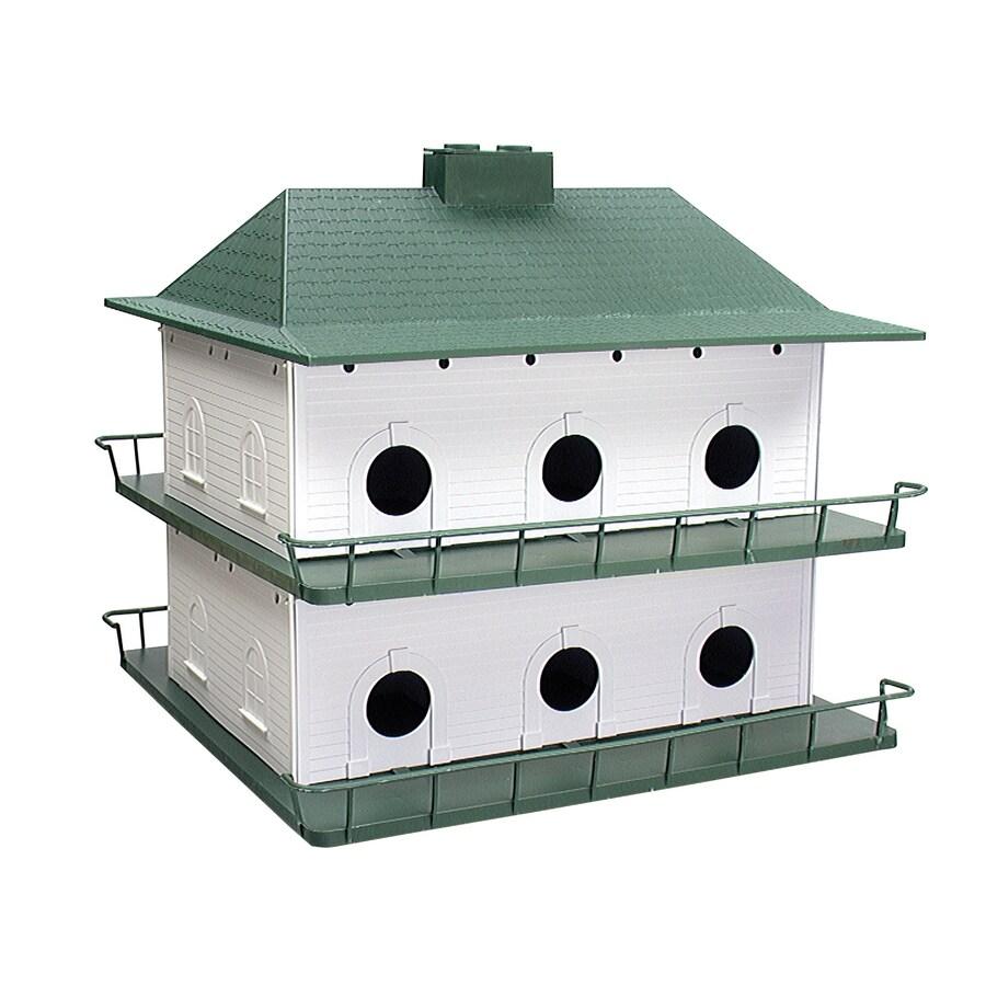 Heath 21.5-in W x 21.5-in H x 7.25-in D White/Green Bird House