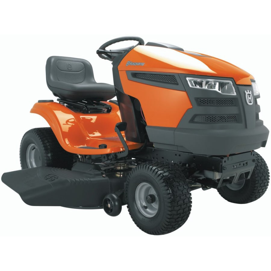 Husqvarna 22-HP V-Twin Hydrostatic 42-in Riding Lawn Mower with Briggs & Stratton Engine